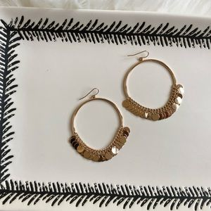 Zara Gold Dangle Boho Hoop Earrings